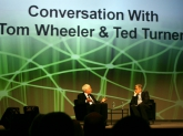 Ted Turner with Tom Wheeler